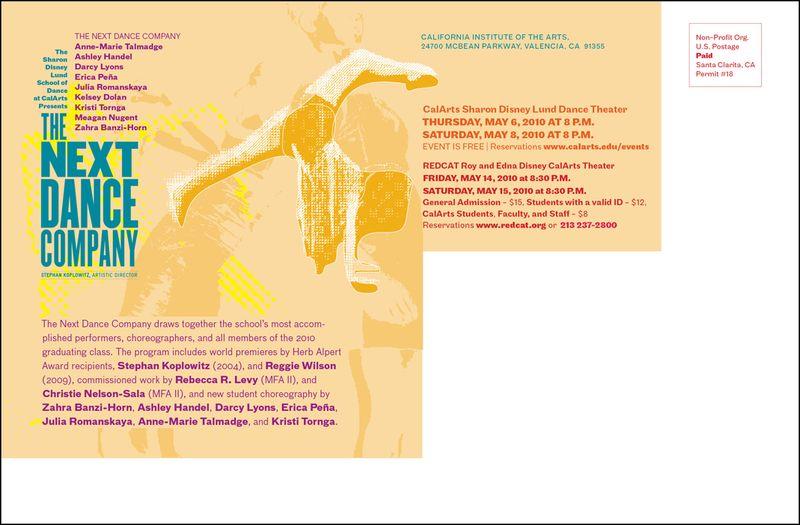 The Next Dance Co. bk postcard